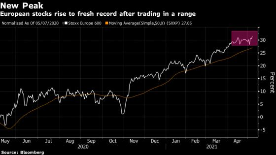 European Stocks Rise to Record as Tech Shares Gain on U.S. Data