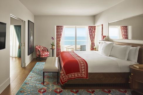 A guest room at Faena Miami Beach.