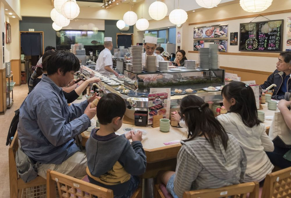 No Conveyor Belt Sushi Japan Adapts To New Normal Of The Virus