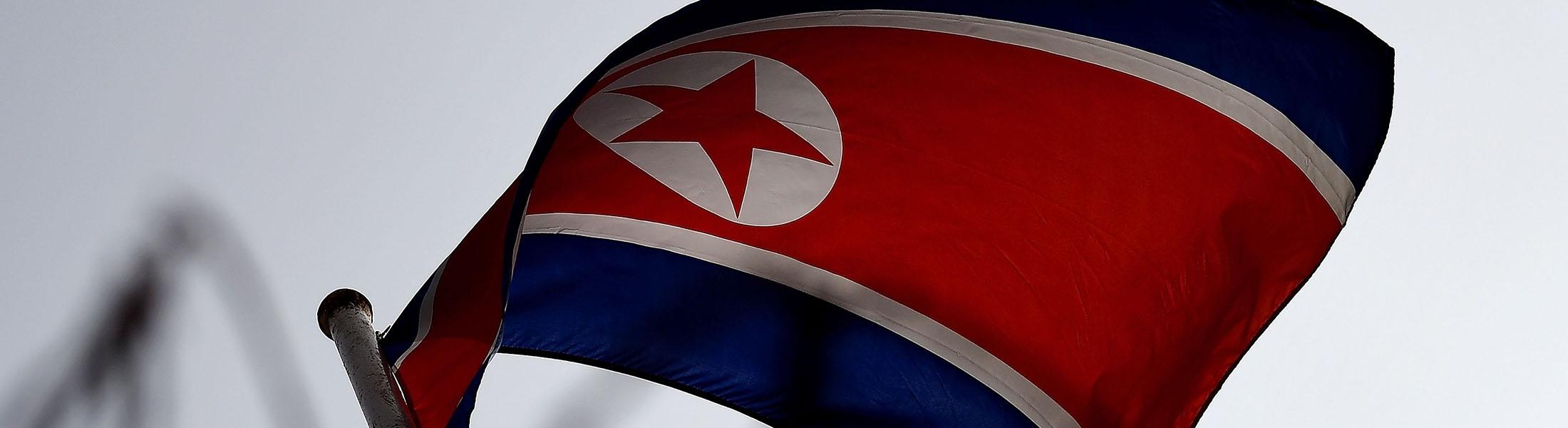 The North Korean flag