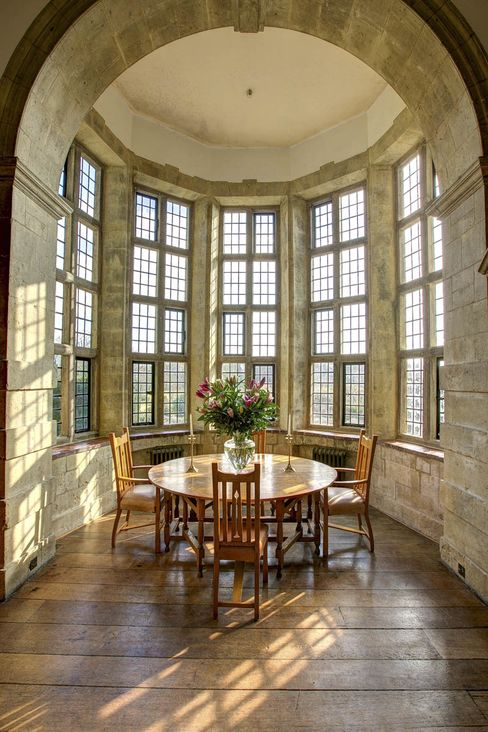 The oriel window in the drawing room.