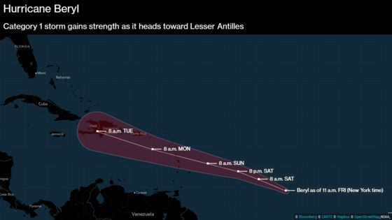 Tiny Hurricane Beryl Is Smaller Than Manhattan But Packs a Punch