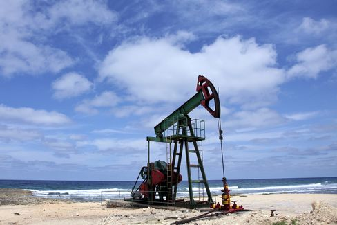 Oil traded at about $79 a barrel