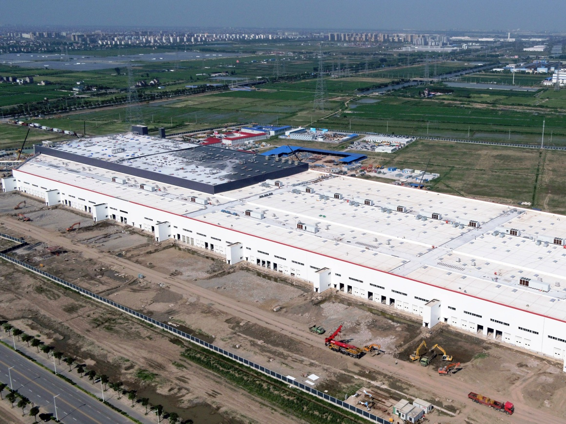 What a first-mover advantage gets you: Tesla's gigafactory in Shanghai.