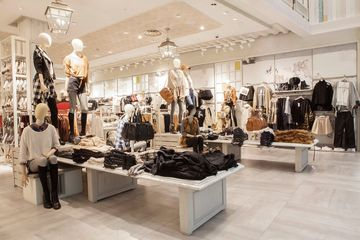 The interior of Stradivarius's Westfield flagship in London.