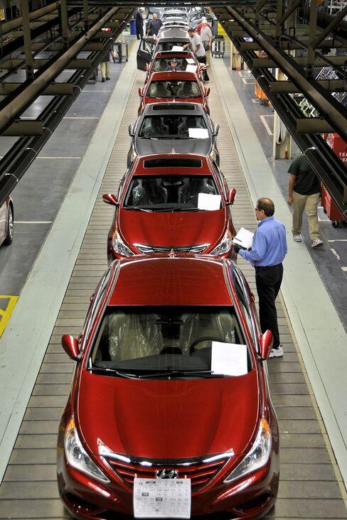 Hyundai, Kia's U.S. Plants Run Overtime