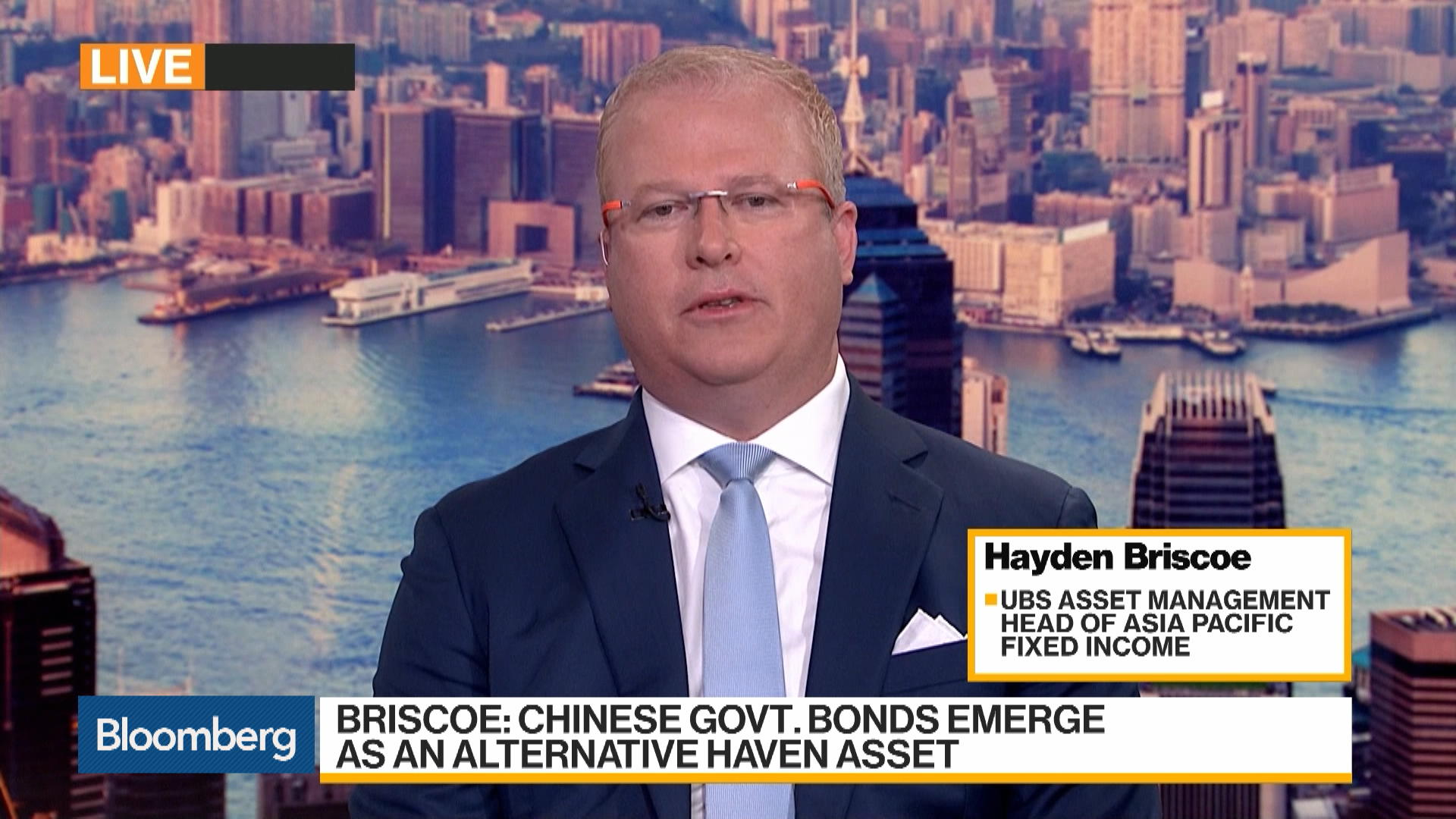 China Government Bonds Becoming a Safe Heaven Asset, UBS AM's Briscoe Says