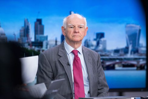 Howard Davies, chairman of Royal Bank of Scotland NV (RBS), pauses during a Bloomberg Television interview in London.