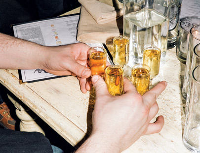 Shots for everyone at Scofflaw