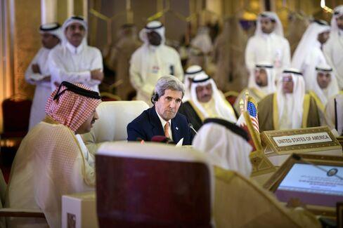 Secretary of State John Kerry in Doha