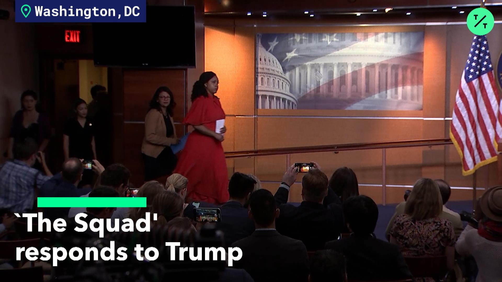 AOC 'Squad' responds to Trump