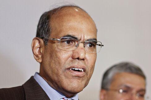 India's Central Bank Governor Duvvuri Subbarao