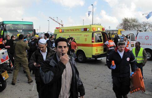 Bomb Blast at Jerusalem Bus Stop Injures 31