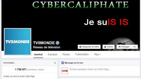 French TV5Monde websites hacked by Islamic State supporters.