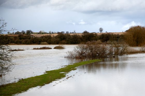 U.K.'s Wettest-Ever February Is Turning Farm Fields Into Lakes
