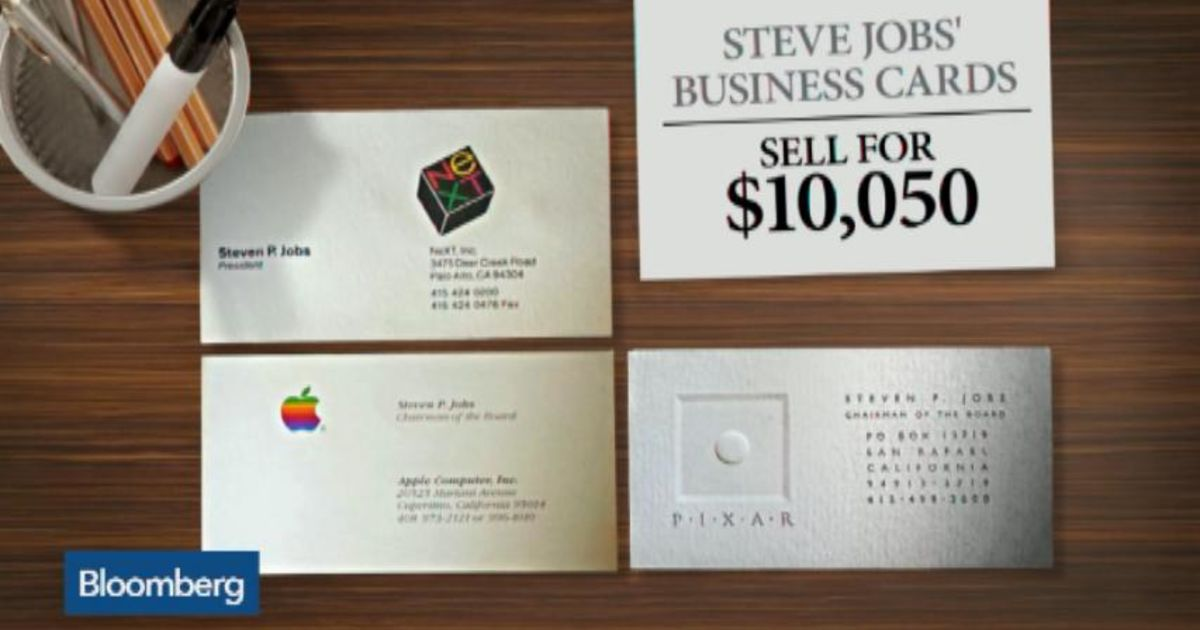 Steve Jobs\' Business Cards Sell for $10,050 – Bloomberg
