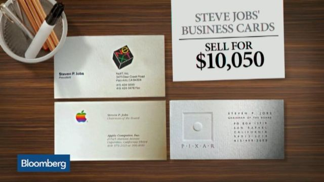 Steve Jobs Business Cards Sell For 10 050 Bloomberg