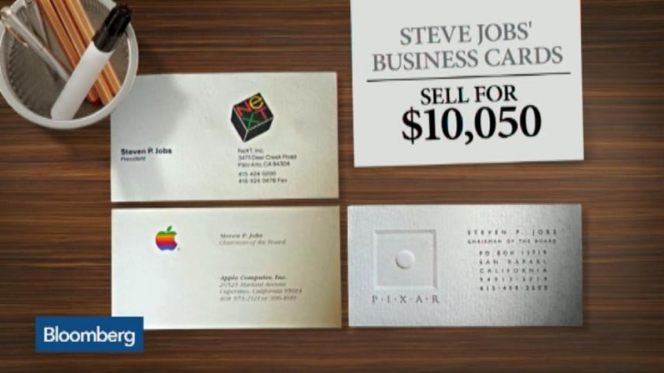 Steve Jobs\' Business Cards Sell for $10,050 – Bloomberg