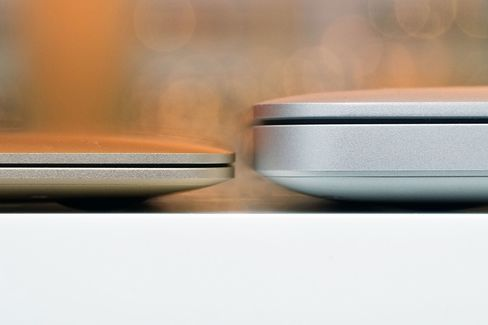 At 13.1mm the MacBook is almost 30 percent slimmer than the MacBook Pro.