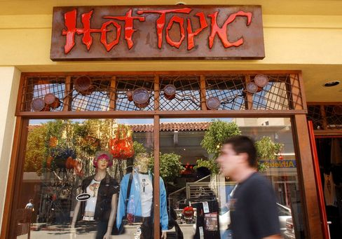 A Hot Topic store is seen on Telegraph Avenue on May 24, 2002 in Berkeley, Calif.