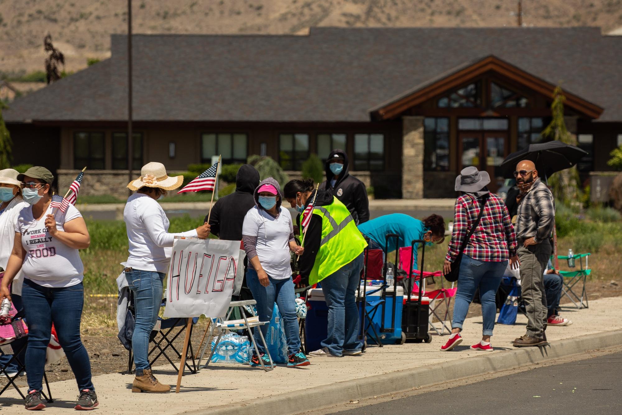 Fruit Workers Strike As Coronavirus Cases Grow In Packing Warehouses