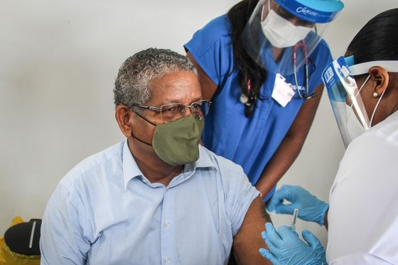 Seychelles Leader Says Most Vaccinated Nation Safe Despite Surge