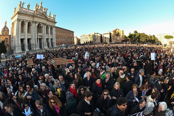 Italy's Sardines Rally in Backlash Against League's Salvini