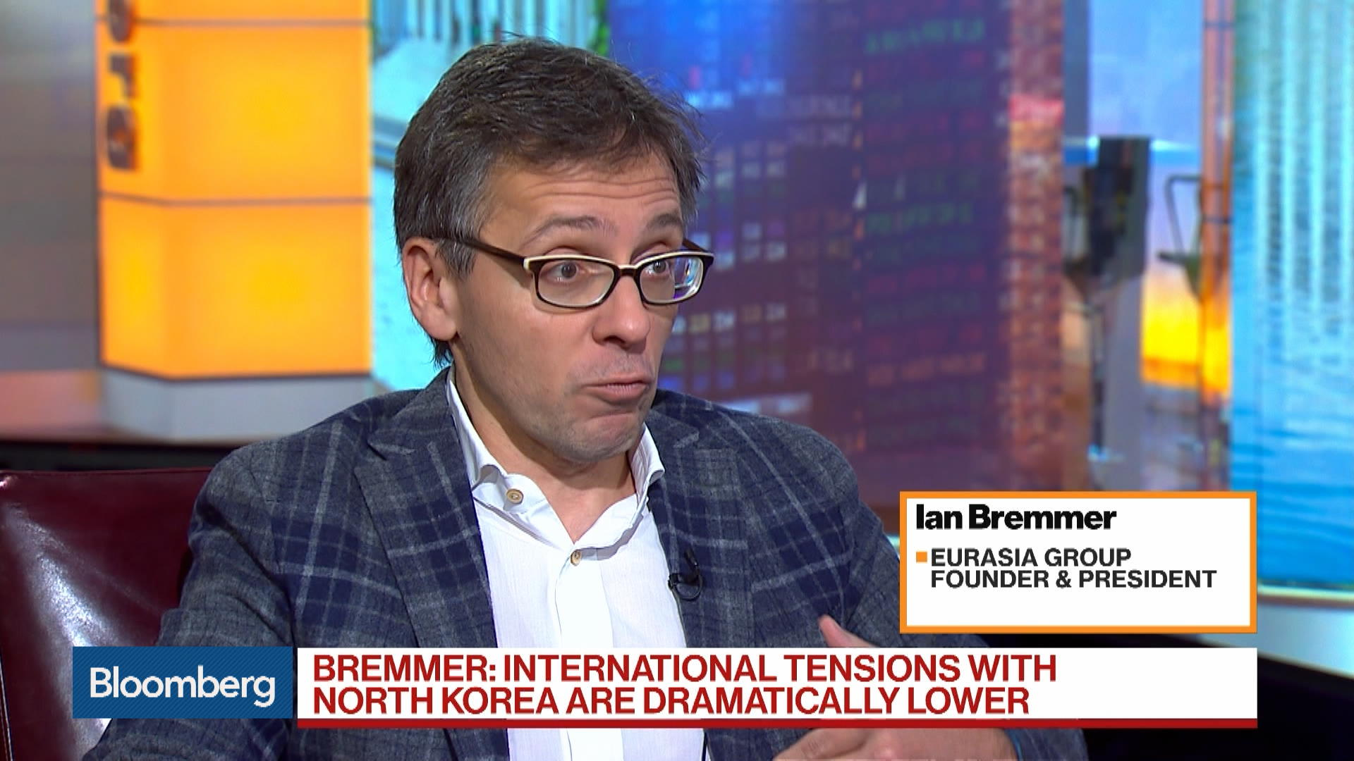 Global Tensions With N. Korea Dramatically Lower, Eurasia Group's Bremmer Says