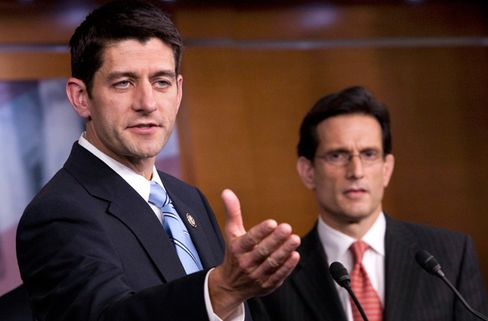 Ryan Working With Cantor to Protect Boehner Plan From Tea Party