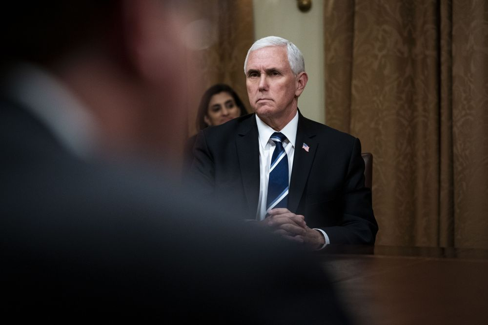 Phó Tổng thống Mỹ Mike Pence  Photographer: Doug Mills/The New York Times/Bloomberg