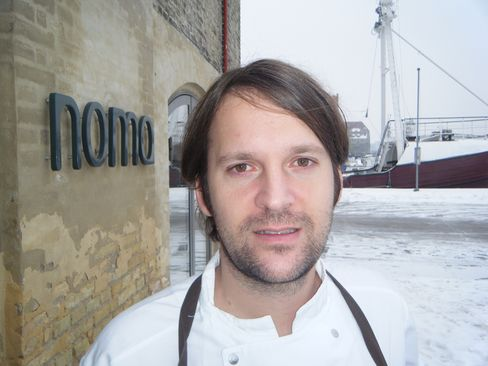 Chef Rene Redzepi outside his restaurant Noma in Copenhagen. The Danish chef will visit London next month to promote his book about the restaurant. Photographer: Richard Vines/Bloomberg