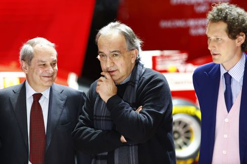 Amedeo Felisa, Sergio Marchionne and John Elkann