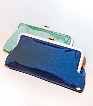 """The Beekman grosgrain clutches ($245) are like """"little pieces of candy,"""" Parker says"""