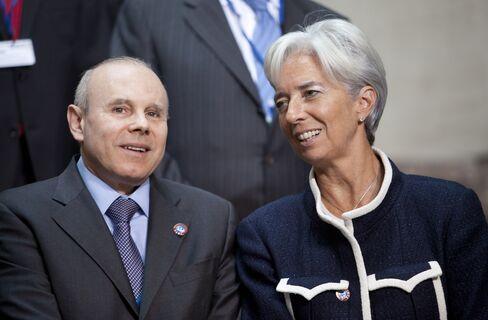 Guido Mantega and Christine Lagarde