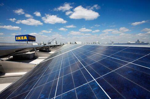 Brooklyn Solar Panels on Ikea Store