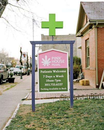 Pink House medical dispensary in Denver