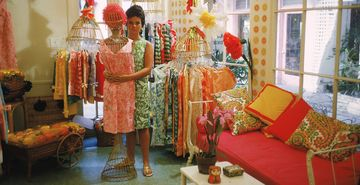 Lilly in her first shop off Via Mizner in Palm Beach in 1962