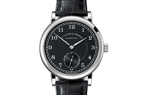 The very first 1815 from A. Lange & Söhne to feature a white metal case with a black dial.