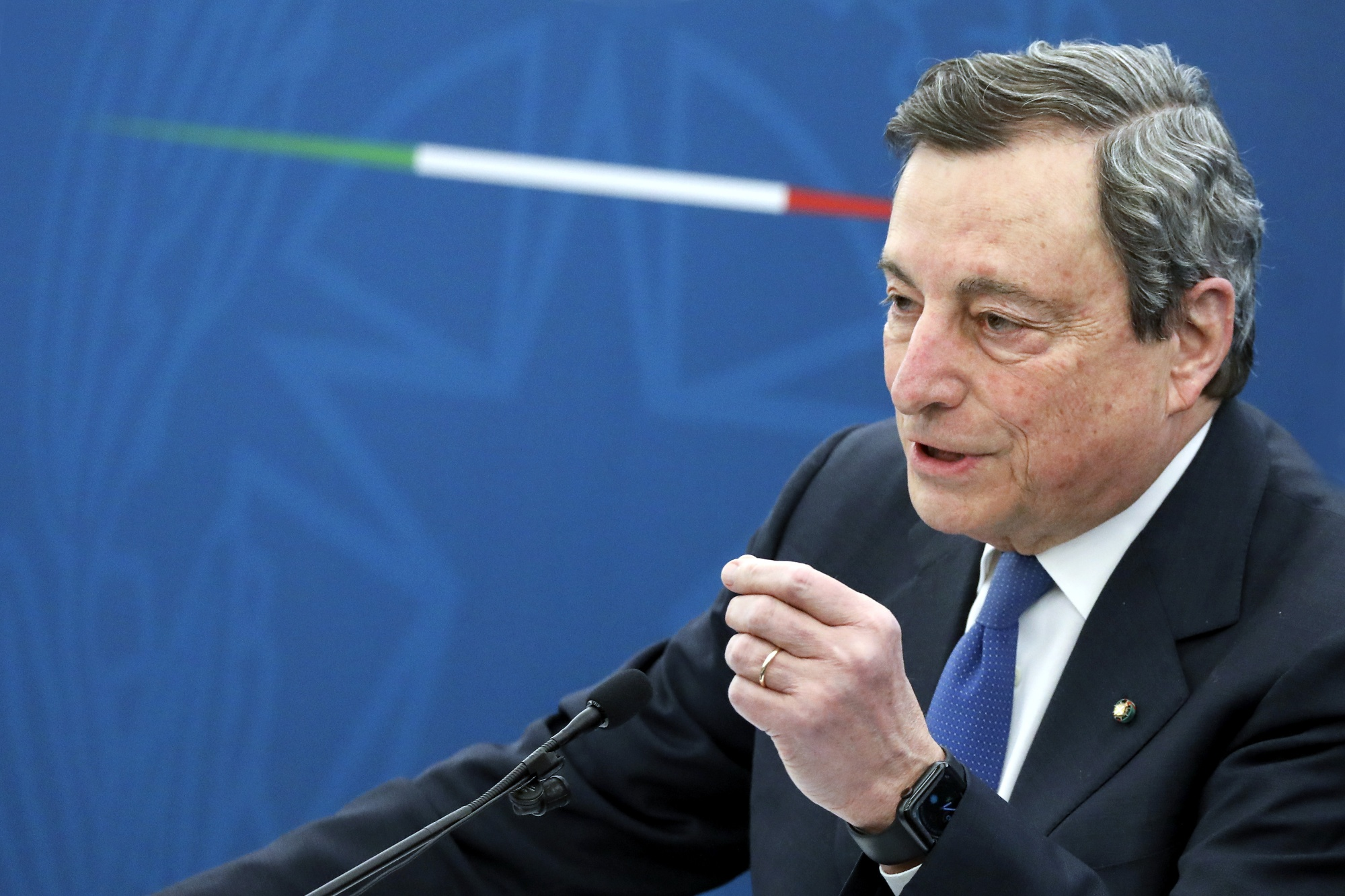 Italy's PM Draghi News Conference