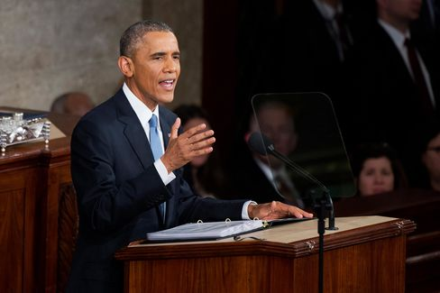 President Barack Obama delivers his State of the Union address in the in the Capitol's House chamber, Jan. 20, 2015.