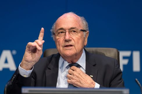 FIFA President Joseph S. Blatter talks to the press during the FIFA Post Congress Week Press Conference at the Home of FIFA on May 30, 2015 in Zurich, Switzerland.
