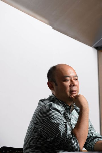Taizo Son, chief executive officer of Mistletoe, Inc., speaks during an interview in Tokyo, Japan, on Tuesday, Aug.30, 2016. Photographer: Akio Kon/Bloomberg
