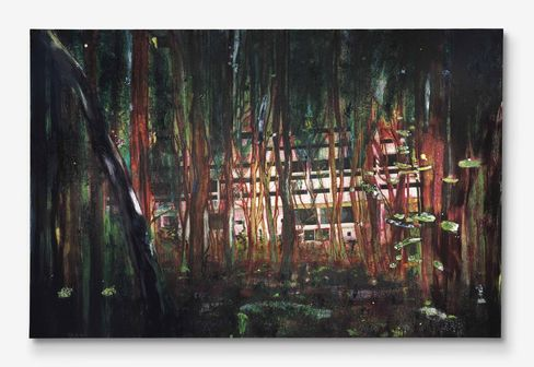 """Cabin Essence"" by Peter Doig"