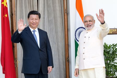 Narendra Modi and Xi Jinping