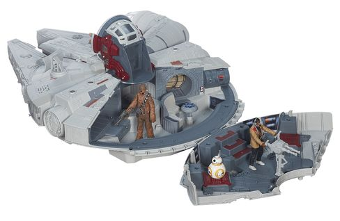 The newest Millennium Falcon toy designed for The Force Awakens.