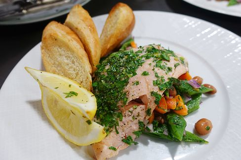 Baked trout from Marley Spoon.