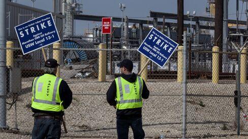 Oil Workers Strike