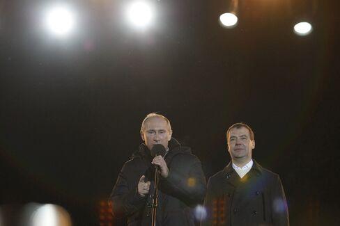 Medvedev Orders Khodorkovsky Review as Putin Celebrates Win
