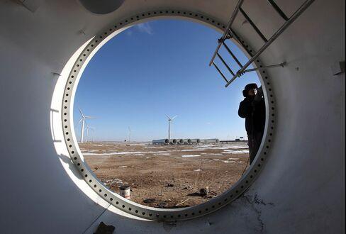 Wind Farm In Yumen