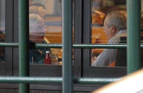 Cunniffe and Bob Stewart appear in this FBI surveillance photo.